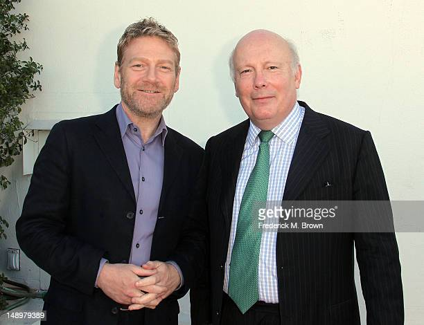 Actor Kenneth Branagh and creator/writer/executive producer Julian Fellowes attend Masterpiece And PBS' '2012 Summer TCA' Cocktail Party at The...