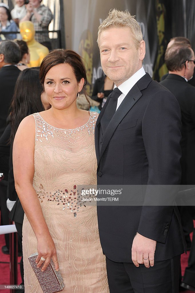 Actor Kenneth Branagh (R) and Lindsay Brunnock arrive at the 84th Annual Academy Awards held at the Hollywood & Highland Center on February 26, 2012 in Hollywood, California.