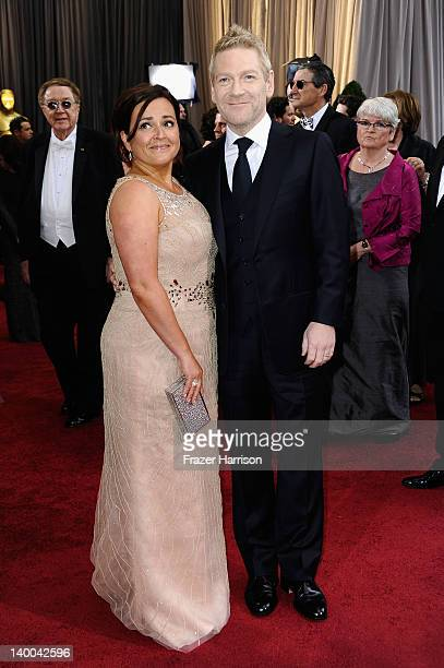 Actor Kenneth Branagh and Lindsay Brunnock arrive at the 84th Annual Academy Awards held at the Hollywood Highland Center on February 26 2012 in...