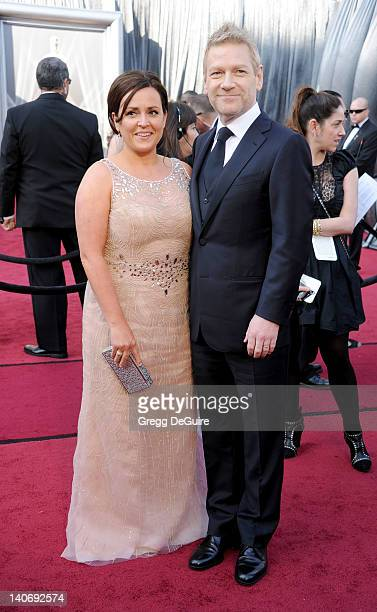 Actor Kenneth Branagh and Lindsay Brunnock arrive at the 84th Annual Academy Awards at Hollywood & Highland Center on February 26, 2012 in Hollywood,...