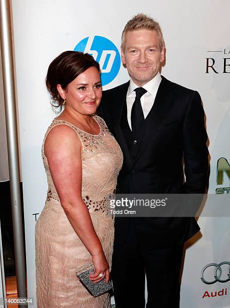 Actor Kenneth Branagh and Lindsay Brunnock attend Dewar's at TWC Oscar after party in partnership with Manuele Malenotti Audi HP at SkyBar at the...