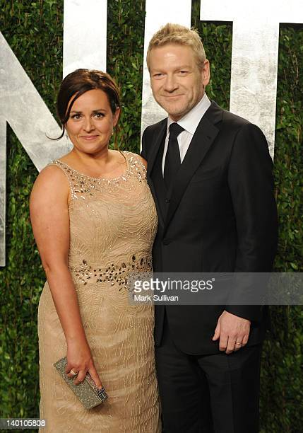 Actor Kenneth Branagh and wife Lindsay Brunnock arrive at the 2012 Vanity Fair Oscar Party hosted by Graydon Carter at Sunset Tower on February 26,...