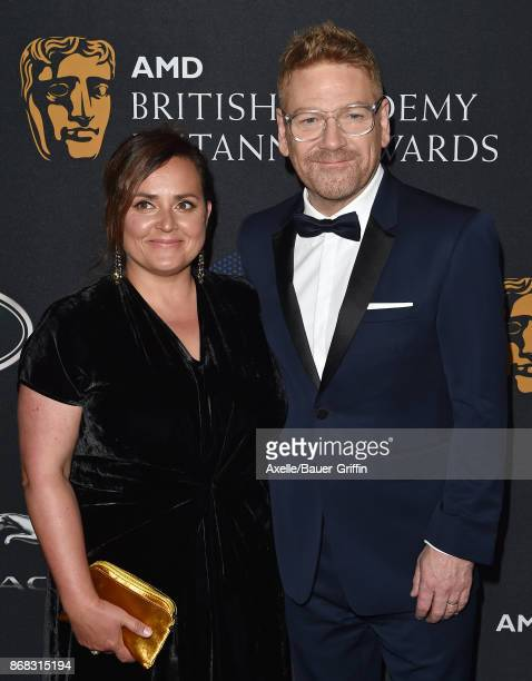 Actor Kenneth Branagh and wife Lindsay Brunnock arrive at the 2017 AMD British Academy Britannia Awards at The Beverly Hilton Hotel on October 27,...