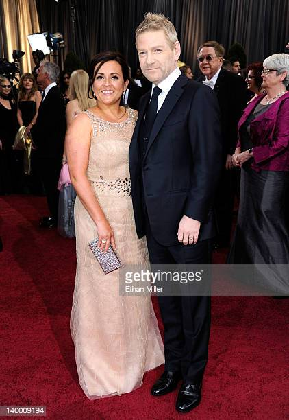 Actor Kenneth Branagh and wife Lindsay Brunnock arrive at the 84th Annual Academy Awards held at the Hollywood Highland Center on February 26 2012 in...