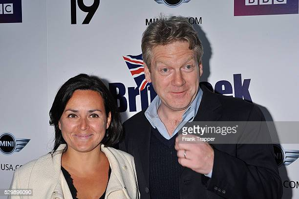 Actor Kenneth Branagh and wife Lindsay Brunnock arrive at the Champagne Launch of BritWeek held at the Consul General's Official Residence