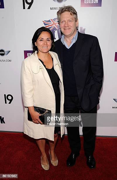 Actor Kenneth Branagh and wife Lindsay Brunnock attend the Champagne Launch Of BritWeek 2009 on April 23 2009 at the British Consul General's Offcial...