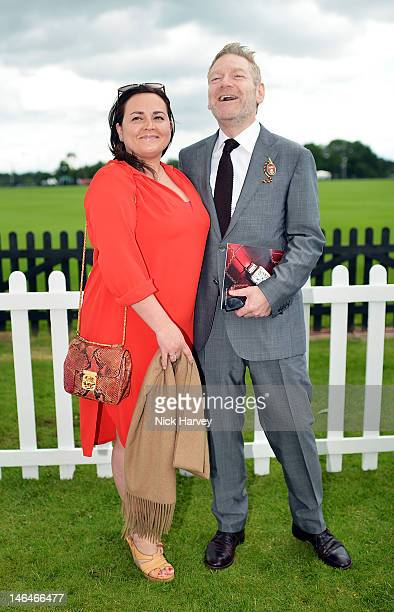 Actor Kenneth Branagh and wife Lindsay Brunnock attends the Cartier Queen's Cup Polo Day 2012 at Guards Polo Club on June 17 2012 in Egham England