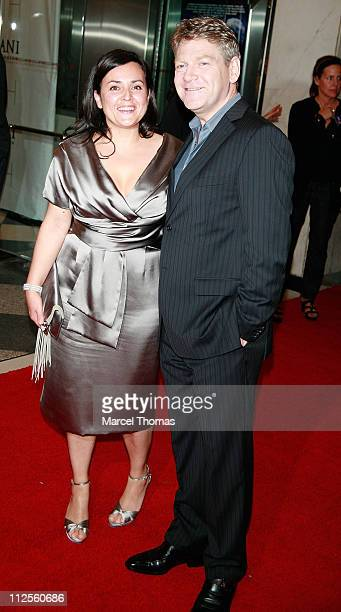 Actor Kenneth Branagh and wife Lindsay Brunnock sighting arriving at the New York Premiere of the movie Sleuth held at the Paris Theater on October...
