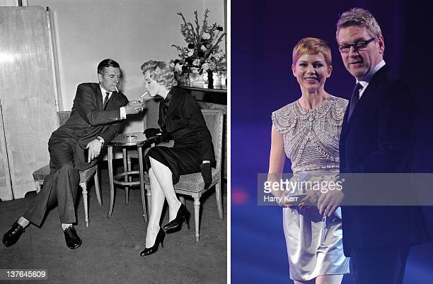 In this composite image a comparison has been made between Sir Laurence Olivier with Marilyn Monroe and actor Kenneth Branagh with actress Michelle...