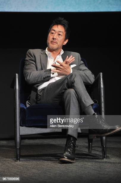Actor Kenneth Choi speaks at the FYC Panel for Fox's 911 at Saban Media Center on June 4 2018 in North Hollywood California