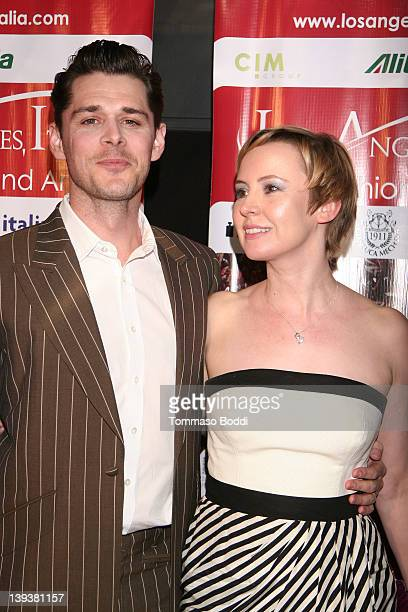 Actor Kenny Doughty and Caroline Carver attend the 7th annual Los Angeles Italia Film Fashion And Art Festival opening night gala held at the Mann...
