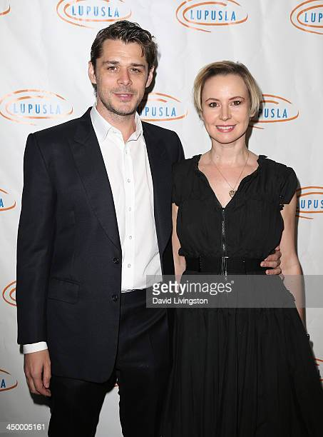 Actor Kenny Doughty and wife actress Caroline Carver attend the 11th Annual Lupus LA Hollywood Bag Ladies Luncheon at the Beverly Wilshire Four...