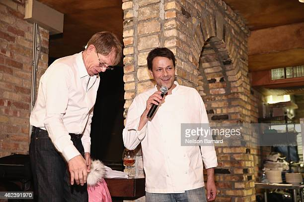 Actor Kenny Griswold and Chef Paolo Dorigato speak at ChefDance 2015 presented by Victory Ranch and sponsored by Merrill Lynch Freixenet and Anchor...