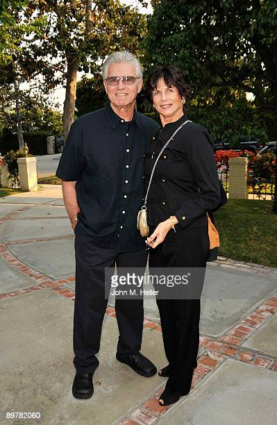 Actor Kent McCord and Cynthia McCord attend the Membership First Fundraiser at the home of Nancy Sinatra on August 13 2009 in Beverly Hills California
