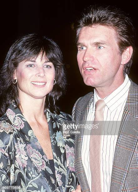 Actor Kent McCord and wife Cynthia Lee Doty attend Los Angeles PoliceCelebrity Tennis Classic KickOff Celebration on September 16 1986 at the Los...