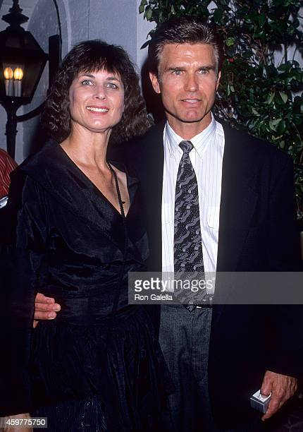 Actor Kent McCord and wife Cynthia Lee Doty attend Stephen J Cannell Productions' 10th Anniversary Celebration on July 10 1989 at Chasen's Restaurant...