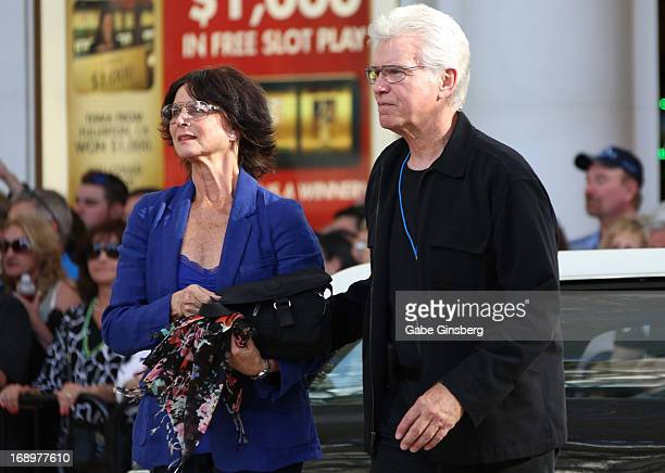 Actor Kent McCord and wife Cynthia McCord arrive at the opening ceremony of Las Vegas Car Stars at the Fremont Street Experience on May 17 2013 in...