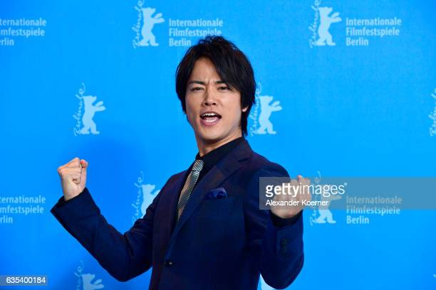 Actor Kenta Kiritani attends the 'CloseKnit' photo call during the 67th Berlinale International Film Festival Berlin at Grand Hyatt Hotel on February...