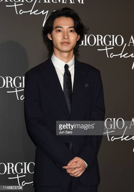 Actor Kento Yamazaki attends the Georgio Armani 2020 Cruise Collection at the Tokyo National Museum on May 24 2019 in Tokyo Japan