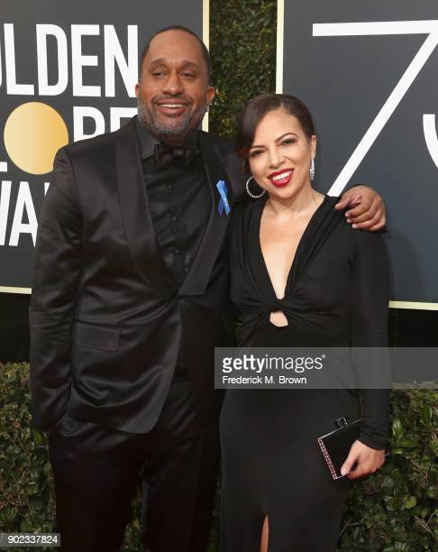 Actor Kenya Barris and Dr Rainbow EdwardsBarris attend The 75th Annual Golden Globe Awards at The Beverly Hilton Hotel on January 7 2018 in Beverly...