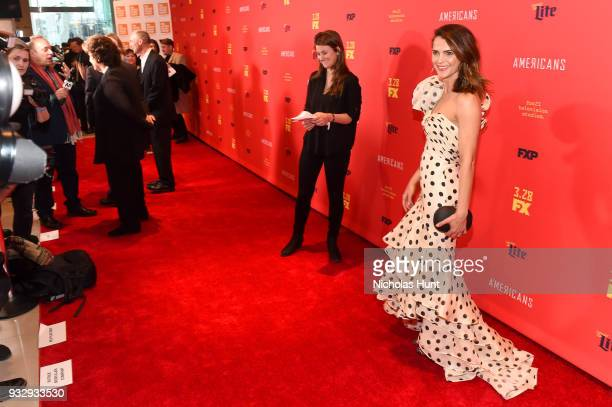 Actor Keri Russell attends 'The Americans' Season 6 Premiere at Alice Tully Hall Lincoln Center on March 16 2018 in New York City