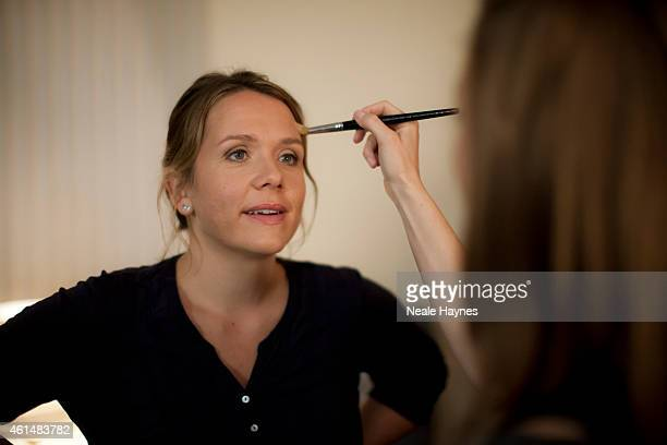 Actor Kerry Godliman is photographed on set of the comedy drama Derek in which Ricky Gervais stars and directs August 4 2012 in London England