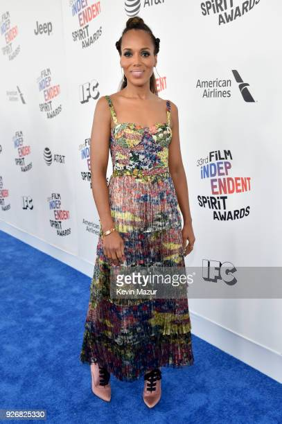 Actor Kerry Washington attends the 2018 Film Independent Spirit Awards on March 3 2018 in Santa Monica California