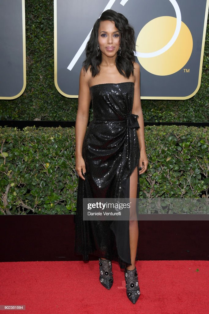 Actor Kerry Washington attends The 75th Annual Golden Globe Awards at The Beverly Hilton Hotel on January 7, 2018 in Beverly Hills, California.