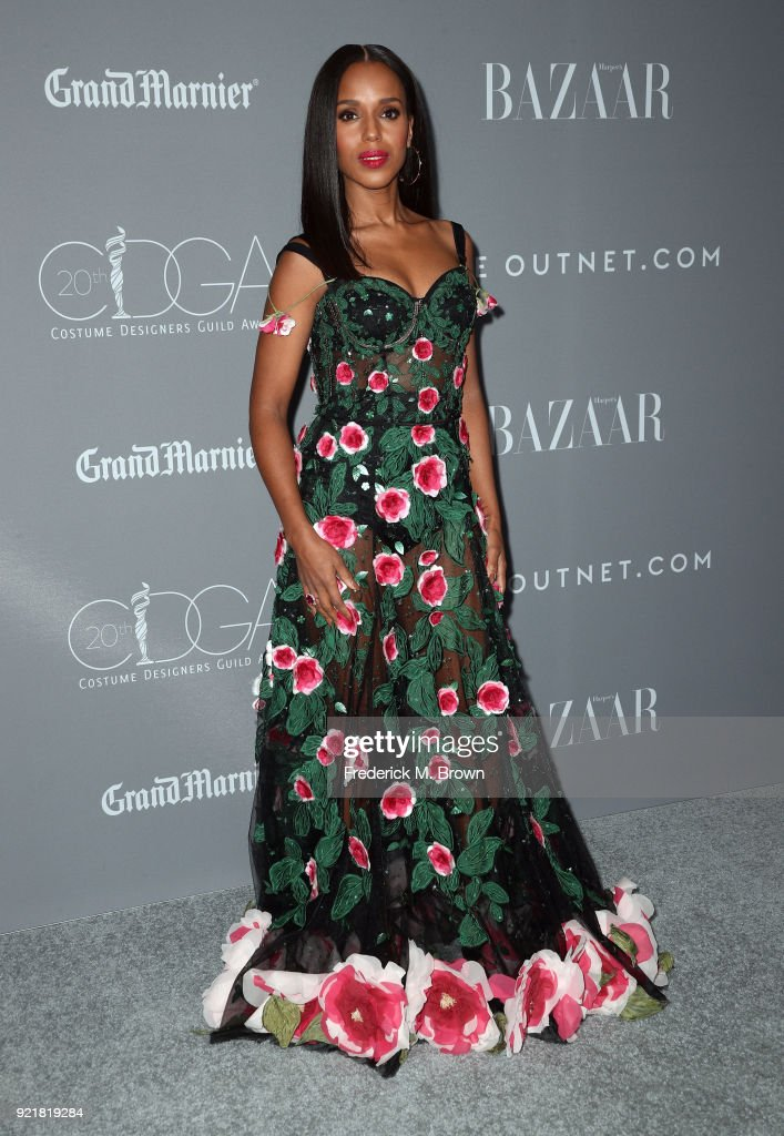 Actor Kerry Washington attends the Costume Designers Guild Awards at The Beverly Hilton Hotel on February 20, 2018 in Beverly Hills, California.