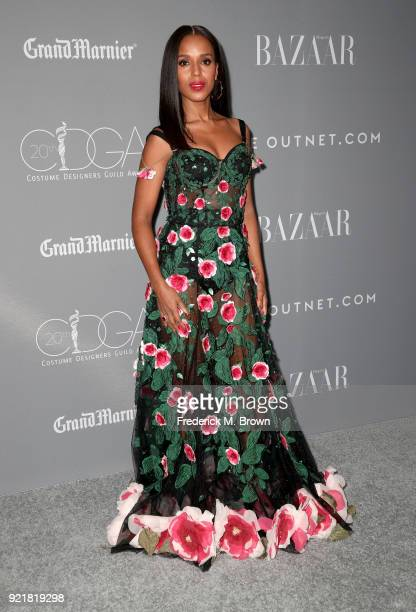 Actor Kerry Washington attends the Costume Designers Guild Awards at The Beverly Hilton Hotel on February 20 2018 in Beverly Hills California