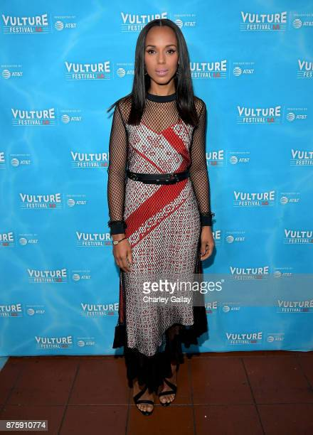 Actor Kerry Washington attends the 'Scandal The Final Season' panel during Vulture Festival LA Presented by ATT at Hollywood Roosevelt Hotel on...