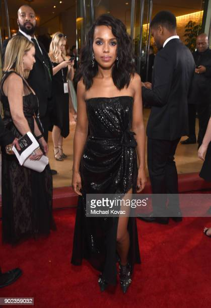Actor Kerry Washington celebrates The 75th Annual Golden Globe Awards with Moet Chandon at The Beverly Hilton Hotel on January 7 2018 in Beverly...