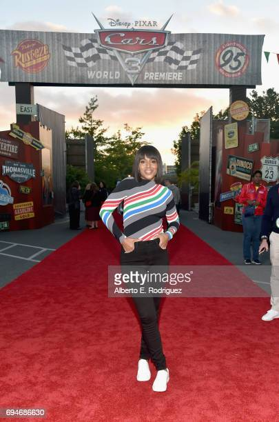 "Actor Kerry Washington poses at the after party for the World Premiere of Disney/Pixar's ""Cars 3"" at Cars Land at Disney California Adventure in..."