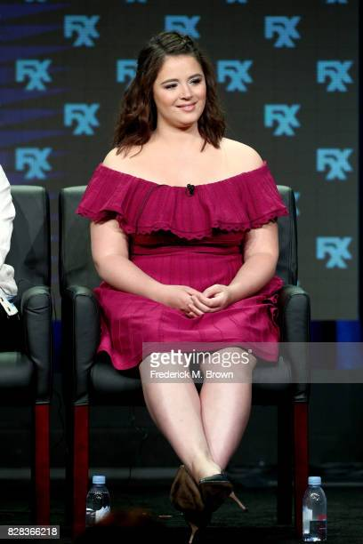 Actor Kether Donohue of 'You're The Worst' speaks onstage during the FX portion of the 2017 Summer Television Critics Association Press Tour at The...