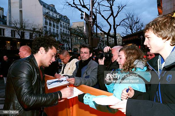 Actor Kev Adams attends 'Les Profs' Movie Premiere at Le Grand Rex on April 9, 2013 in Paris, France.