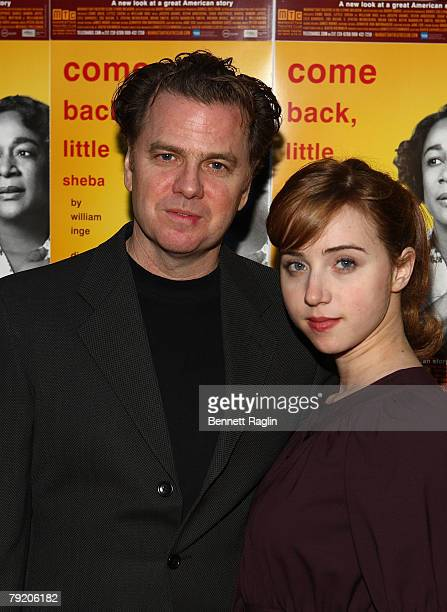 "Actor Kevin Anderson and actress Zoe Kazan attends the ""Come Back, Little Sheba"" after party at Planet Hollywood, January 24 New York, New York City."