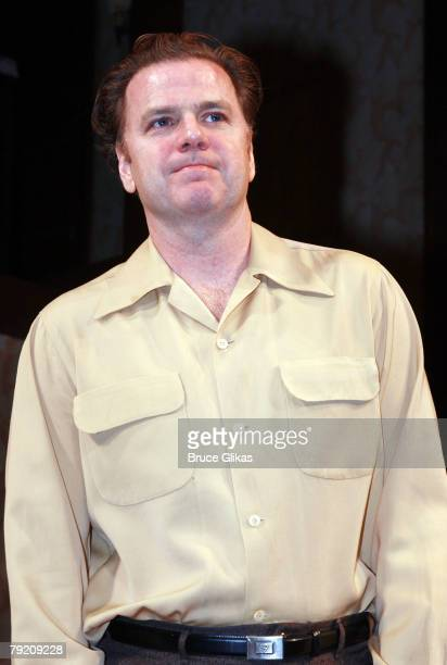"Actor Kevin Anderson bows at The Opening Night Curtain Call or The Revival of ""Come Back, Little Sheba"" at The Biltmore Theater on January 24, 2008..."