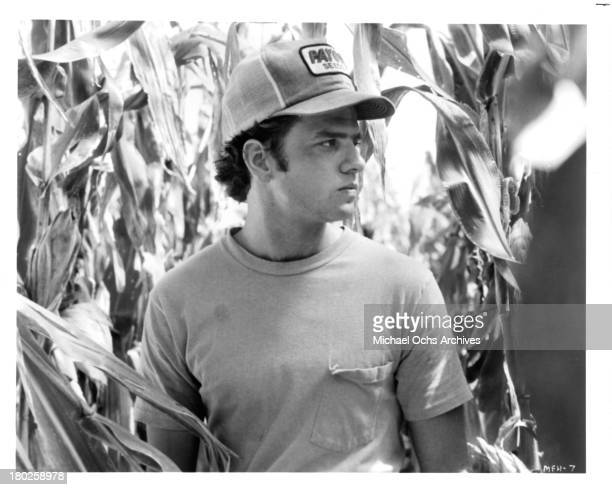 "Actor Kevin Anderson on set for the ""Miles From Home"" in 1988."