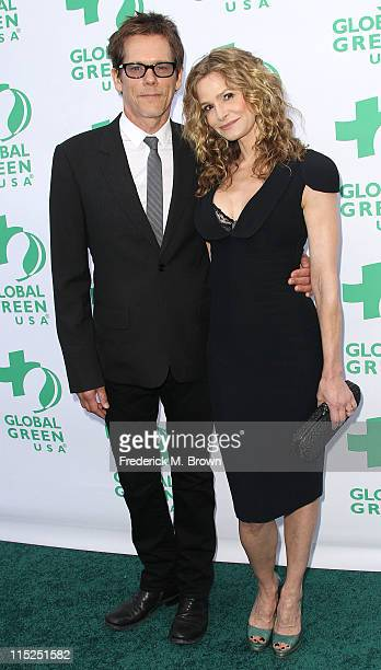 Actor Kevin Bacon and actress Kyra Sedgwick attend Global Green USA's 15th Annual Millennium Awards at the Fairmont Miramar Hotel and Bungalows on...