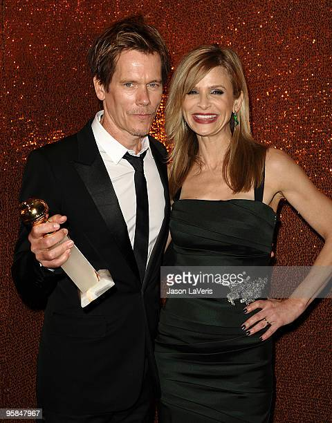 Actor Kevin Bacon and actress Kyra Sedgwick attend the official HBO after party for the 67th annual Golden Globe Awards at Circa 55 Restaurant at the...