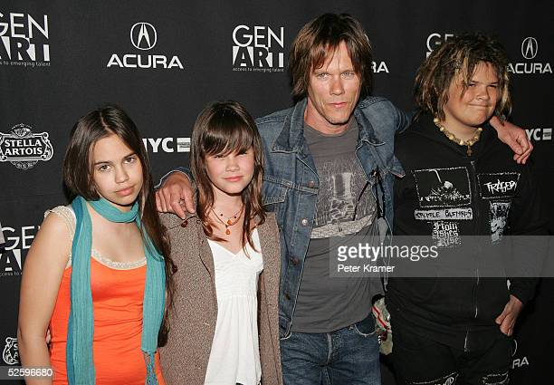 """Actor Kevin Bacon and family attend The Tenth Annual Gen Art Film Festival Screening Of """"Loverboy"""" at the Ziegfeld Theatre April 6, 2005 in New York..."""