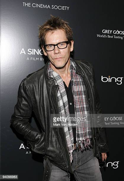 """Actor Kevin Bacon attends a screening of """"A Single Man"""" hosted by the Cinema Society and Tom Ford at The Museum of Modern Art on December 6, 2009 in..."""