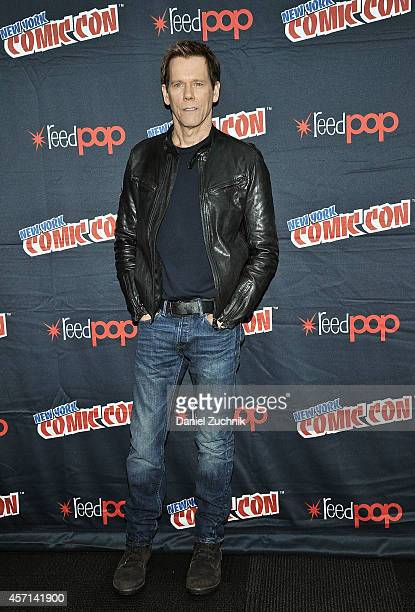 Actor Kevin Bacon attends Fox Network's 'The Following' press room at 2014 New York Comic Con Day 4 at Jacob Javitz Center on October 12 2014 in New...