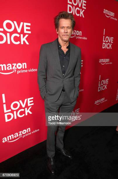 Actor Kevin Bacon attends the red carpet premiere of Amazon's forthcoming series 'I Love Dick' at The Linwood Dunn Theater with a post reception at...