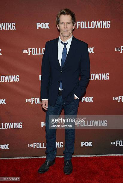 Actor Kevin Bacon attends the screening of Fox's The Following at Leonard H Goldenson Theatre on April 29 2013 in North Hollywood California