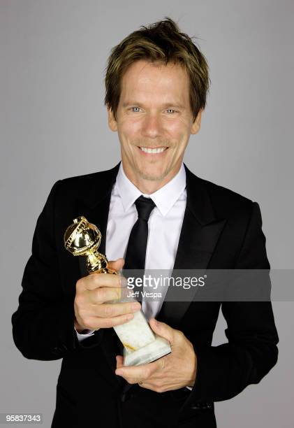 Actor Kevin Bacon poses for a portrait backstage during the 67th Annual Golden Globe Awards at The Beverly Hilton Hotel on January 17 2010 in Beverly...