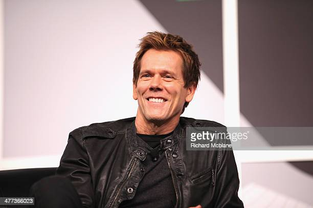 Actor Kevin Bacon speaks onstage at '6 Degrees of Kevin Bacon A Social Phenomenon Turns 20' during the 2014 SXSW Music Film Interactive Festival at...