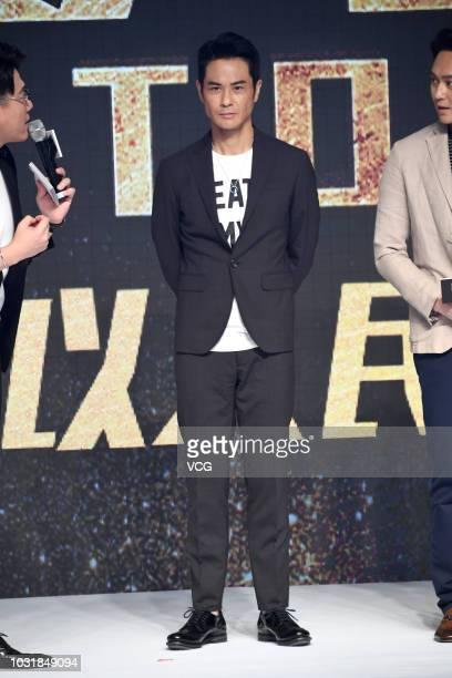 Actor Kevin Cheng Kawing attends the premiere of director David Lam Takluk's film 'L Storm' on September 5 2018 in Beijing China