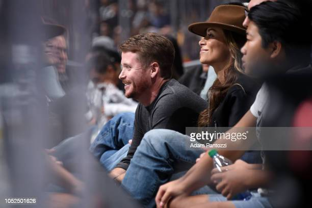 Actor Kevin Connolly watches the game between the New York Islanders and the Los Angeles Kings at STAPLES Center on October 18 2018 in Los Angeles...