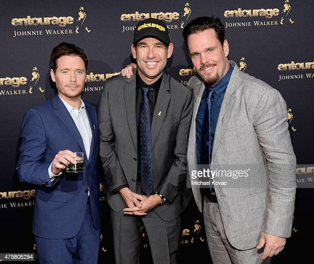 Actor Kevin Connolly writer/director/producer Doug Ellin and actor Kevin Dillon attend the House Of Walker in celebration of Entourage opening night...